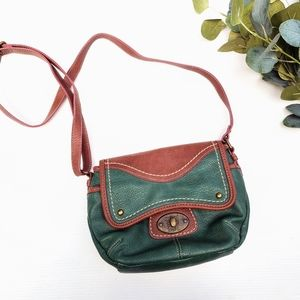VINTAGE B.O.C. pebbled leather crossbody bag